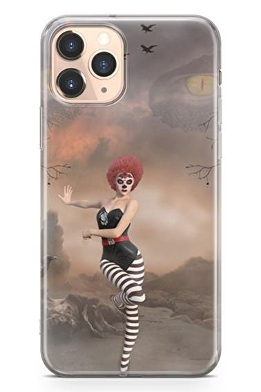 Lopard İphone 11 Pro Kılıf Silikon Arka Kapak Koruyucu Palyaço Kız Desenli Full HD Baskılı Renkli